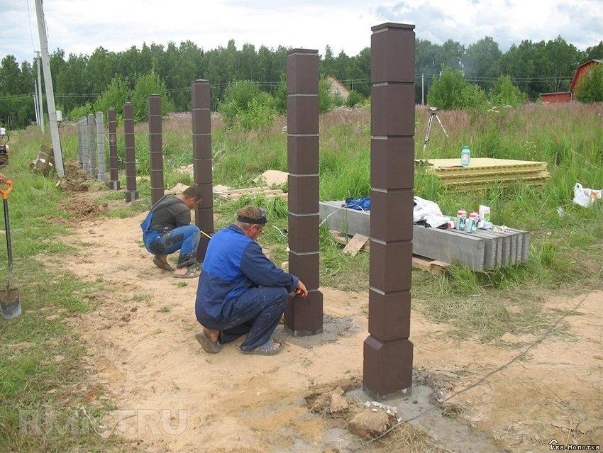 столбы из цемента