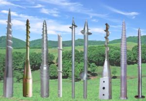 Разновидности винтовых столбов