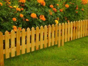 Декоративные заборчики для сада своими руками