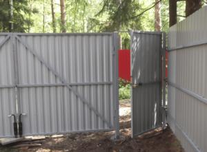 Как правильно сделать самому ворота из профнастила с калиткой