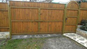 Как сделать распашные ворота с калиткой своими руками