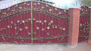 Как сделать и сварить кованые ворота с калиткой