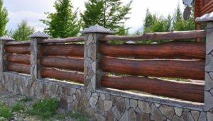 Как сделать забор из горбыля своими руками